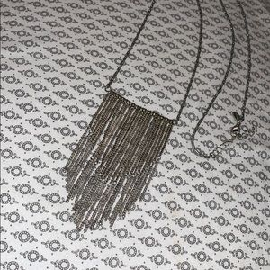 AEO silver hanging chain necklace